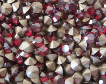 120 pp20 Ruby Champagne Swarovski Art 1028 Xilion Cut 2.7mm Rhinestones 3mm Champagne Ruby Rhinestones 9ss Ruby Champagne Crystals