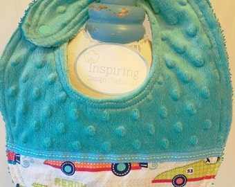 Baby-Bibs-Personalized-Toddler-Boys-Bib-Cars-Blue-LIme-Minky-Dot-Drool-feed-Newborn-essentials-accessories-Nurssery-Shower-Birthday-Gifts