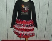 Valentine's Ruffle T-Shirt Dress, Litte Miss Heartbreaker, February, Kisses, Princess