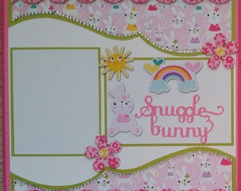 Premade Double Page Layout 12 x 12 My Snuggle Bunny