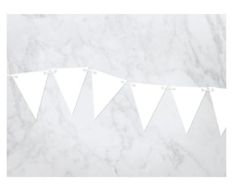 Acrylic Solid Pennant Banner
