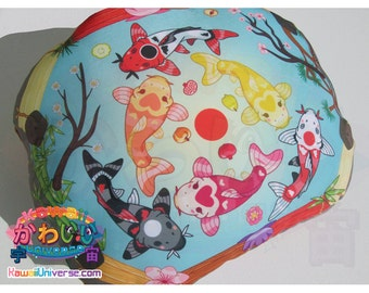 Kawaii Universe - Cute Koi Mandala Pond - Hand Crafted - Designer Plush Pillow