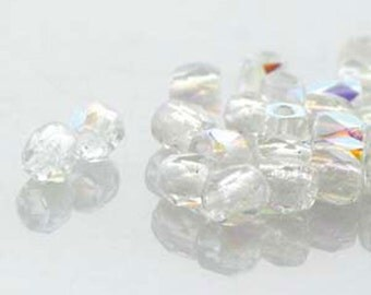 Crystal AB 2mm True Fire Polish Czech Glass Crystal Beads 4 grams