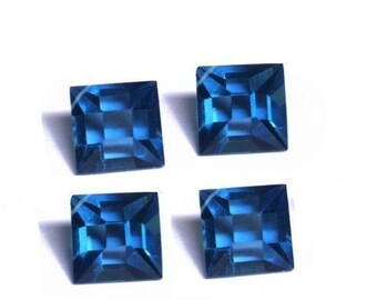 55% OFF SALE 4Pcs 2 Matched Pair - AAA London Blue Quartz Faceted Fancy Square Briolettes Size 14x14mm approx  Extremely Beautiful Brios who