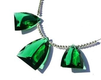 55% OFF SALE 3Pcs Set AAA Green Quartz Faceted Fancy Shaped Briolettes Size 28x20 - 22x11mm Approx Trio, Match Pair, Focal Pendant, Gemstone