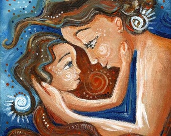 Endearing - mother and child Archival signed 12x12 motherhood print