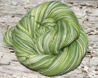 Handpainted Kid Sock Yarn - 20/55/25% Kid Mohair / Superwash Merino Wool / Nylon - Rebirth