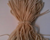 90 Mill Dyed Wool Rug Hooking Strips  Primitive Cream