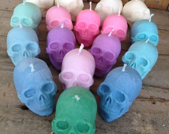 Skull Candle - Choose your colour - Choose your scent