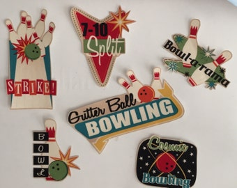 Bowling Patches - Strikes, Balls - Iron On Fabric Appliques