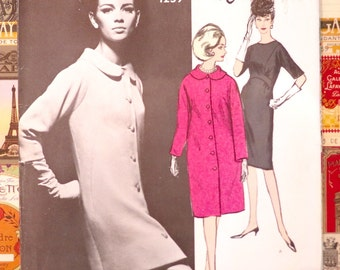 Vintage 1960s Gres Dress and Coat Pattern - Vogue 1259