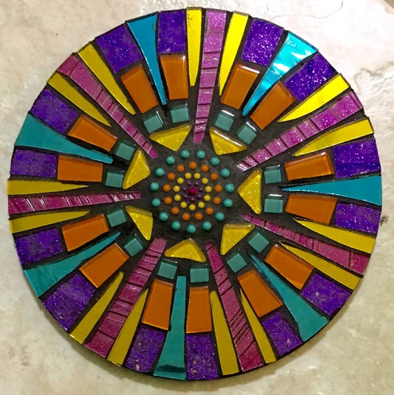 Stained Glass Mosaic Mini Mirror