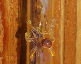 Hanging Glass Incense Burner Holder With Rootbeer Sunburst Symbol E