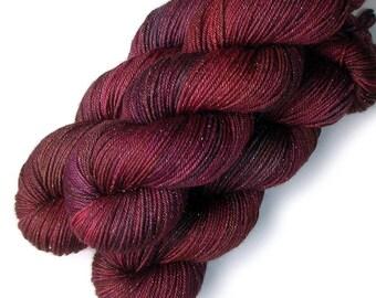 Merino and Silk Glimmer DK Yarn - Fine Wine