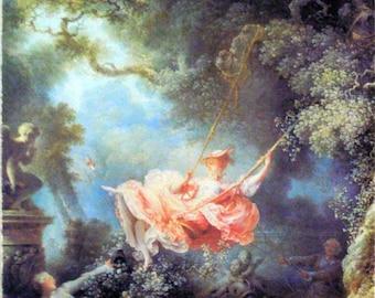 Frangonard's The Swing Rococo Era Painting Print Ready to Hang Museum Quality