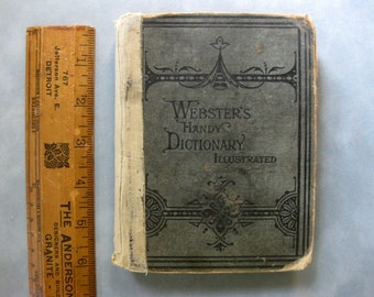 Vintage Websters Handy Dictionary Illustrated, 1877