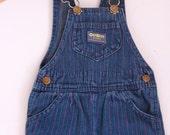 Vintage denim osh kosh overalls with pinstripes 2t eighties toddler denim