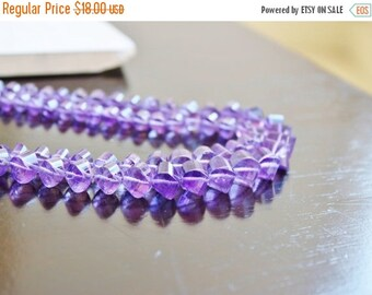 Clearance SALE Purple Amethyst Gemstone Faceted Lantern Twist Briolette 8.5mm 12 beads