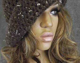 Crochet Hat,Accessory,Unisex Hat,Brown Hat,Winter Hats,Women,Men,Teens,