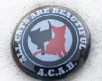 ACAB All Cats 1 inch Button