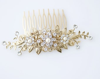 Decorative Comb Hair Comb for Wedding Comb Hair Combs for Wedding Hair Comb Gold Hair Comb GENOA
