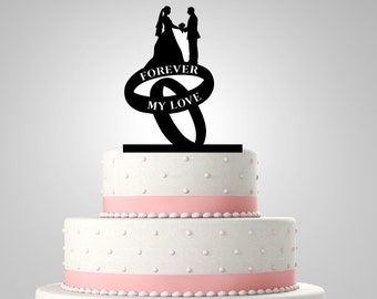 Acrylic Cake Topper,Wedding Cake Topper,Personalized Cake Topper,CT3