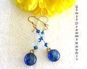 Azure Blue Dangle Earring...