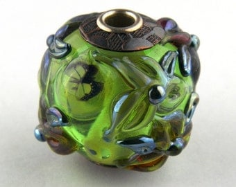 3D Garden Lampwork Glass Bead by Chase Designs