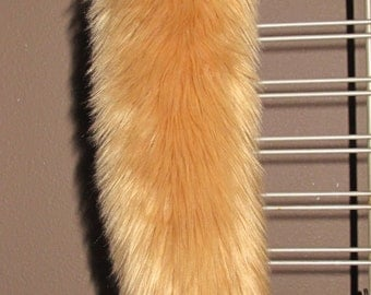 """30"""" Barf the dog Camel color long pile luxury shag faux fur costume tail"""