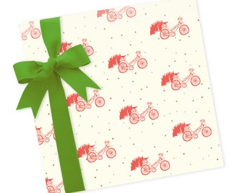 Winter Bicycle - Wrapping Paper