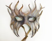 Leather Mask Woodland Ocean Creature elegant tendrils pagan gothic black tie spooky