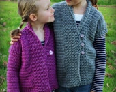 CROCHET PATTERN Kids Ultiums Cardigan - Sizes 2-12 Years - Pattern PDF