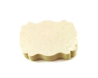 50 Paper Die Cut  Bracket Cards in  Cream