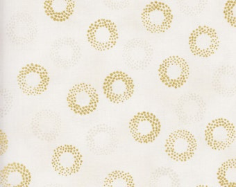 Kaufman Sparkle 15755 15 Ivory Metallic Rings by the yard