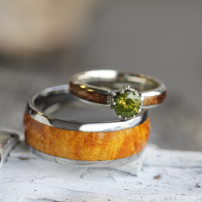 Etsy Wood Engagement Rings