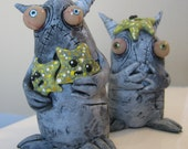 lowbrow one of a kind figure  monster by mealy monster land starfish problems