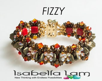 FIZZY Two hole beads Swarovski  Beads Bracelet tutorial instructions for personal use only