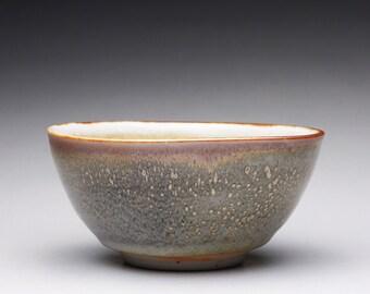 handmade pottery bowl, serving bowl, shino glazed porcelain bowl