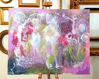 """original 24""""x36"""" abstract painting by Mary Kaiser"""