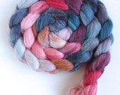 Merino/ Superwash Merino/ Silk Roving (Top) - Handpainted Spinning or Felting Fiber, Flowers in a Vase