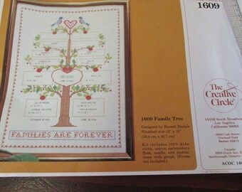 Counted Cross Stitch Kit Family Tree Creative Circle Counted Cross Stitching Kit 1609