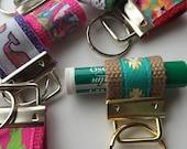 Extra Small Chapstick Holder Keychain, chapstick hook, mini keyfob, party favor, teenage gift,