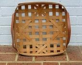 Vintage Basket Vintage Basket With Leather Handles Vintage Gerald Henn Basket