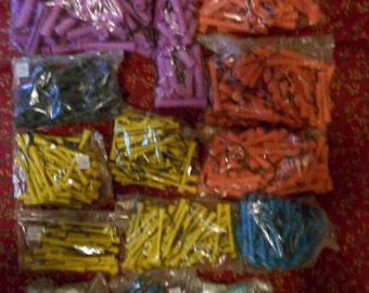 Vinatage Lot of 541 Professional Perm Rods Many different colors sizes
