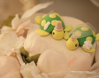 turtles Wedding Cake Topper for 1 pair