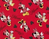 Minnie Mouse Signature Fabric By The Yard FBTY 1 yard