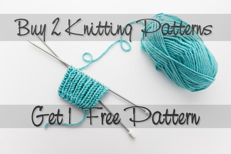 Selling Knitting Patterns : Buy 2 Knitting Patterns Get 1 Free Knitting Pattern