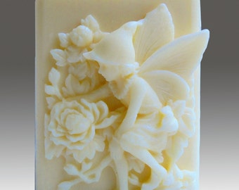 Natural Beeswax Spring Fairy Candle