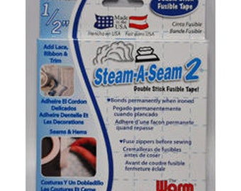 "STEAM-A-SEAM 2 :  1/2""x20yard Roll of Double Stick Fusible Tape"