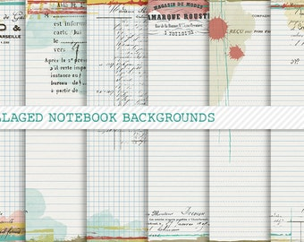 Collaged Notebook Background Papers